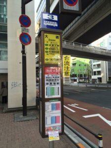 東急東横線の池尻大橋駅から御殿場行きバス停までの道順17